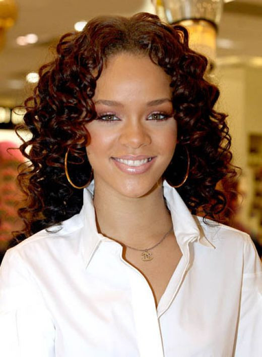Best ideas about Rihanna Curly Hairstyles . Save or Pin roiremoldtrig rihanna red hair curly Now.
