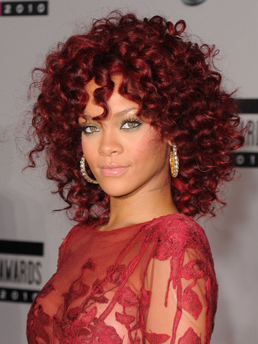 Best ideas about Rihanna Curly Hairstyles . Save or Pin Pearl Concussion Rihanna s red hairstyles 2011 Now.