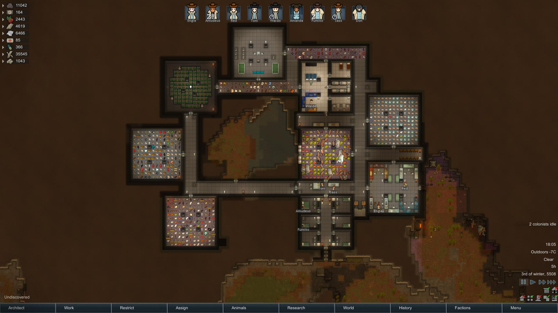 Best ideas about Rimworld Impressive Bedroom . Save or Pin Can I see your colony After 120 hours and no artistic Now.