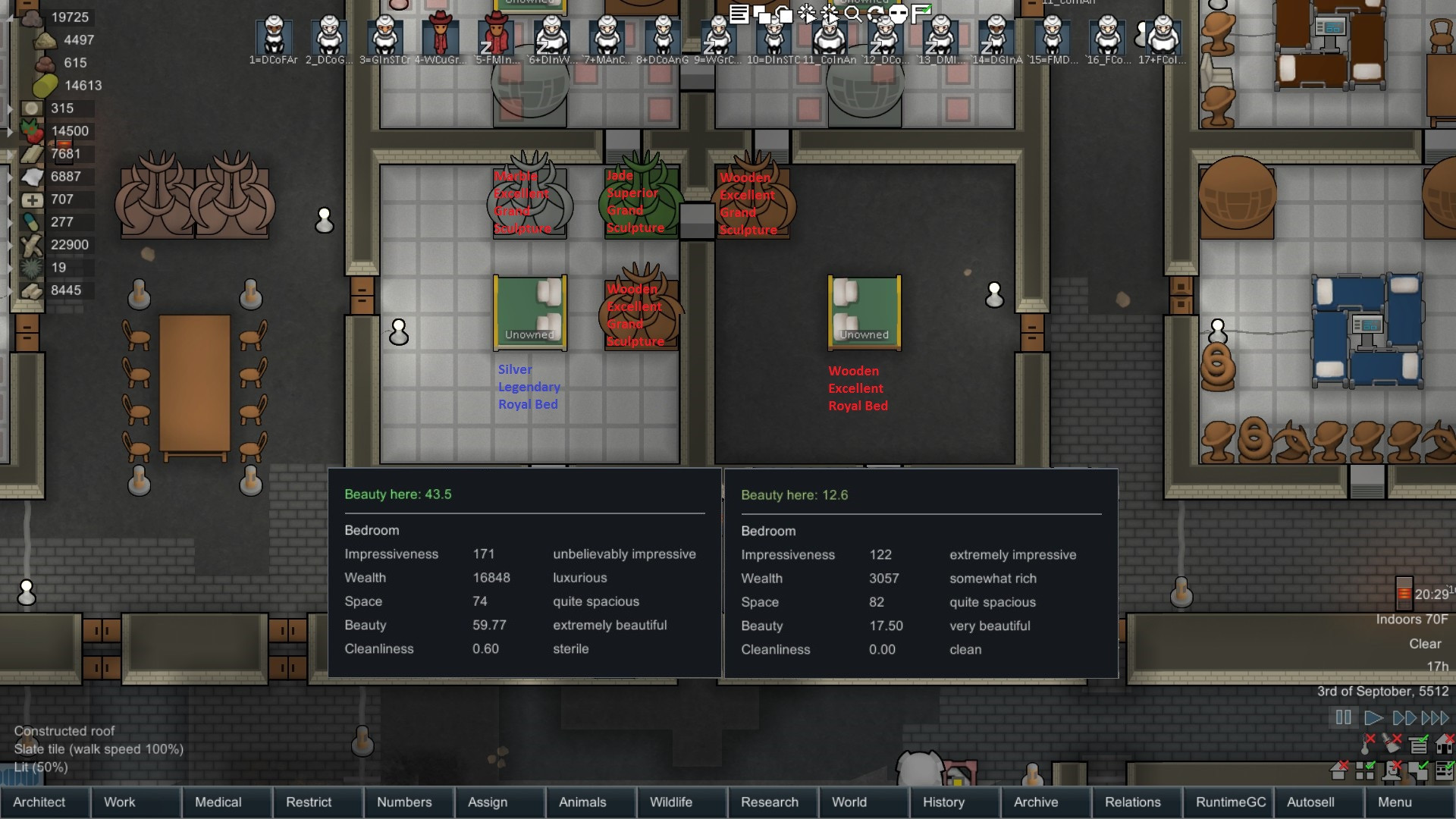 """Best ideas about Rimworld Impressive Bedroom . Save or Pin [A17] The difference between a minimum """"extremely"""" and Now."""