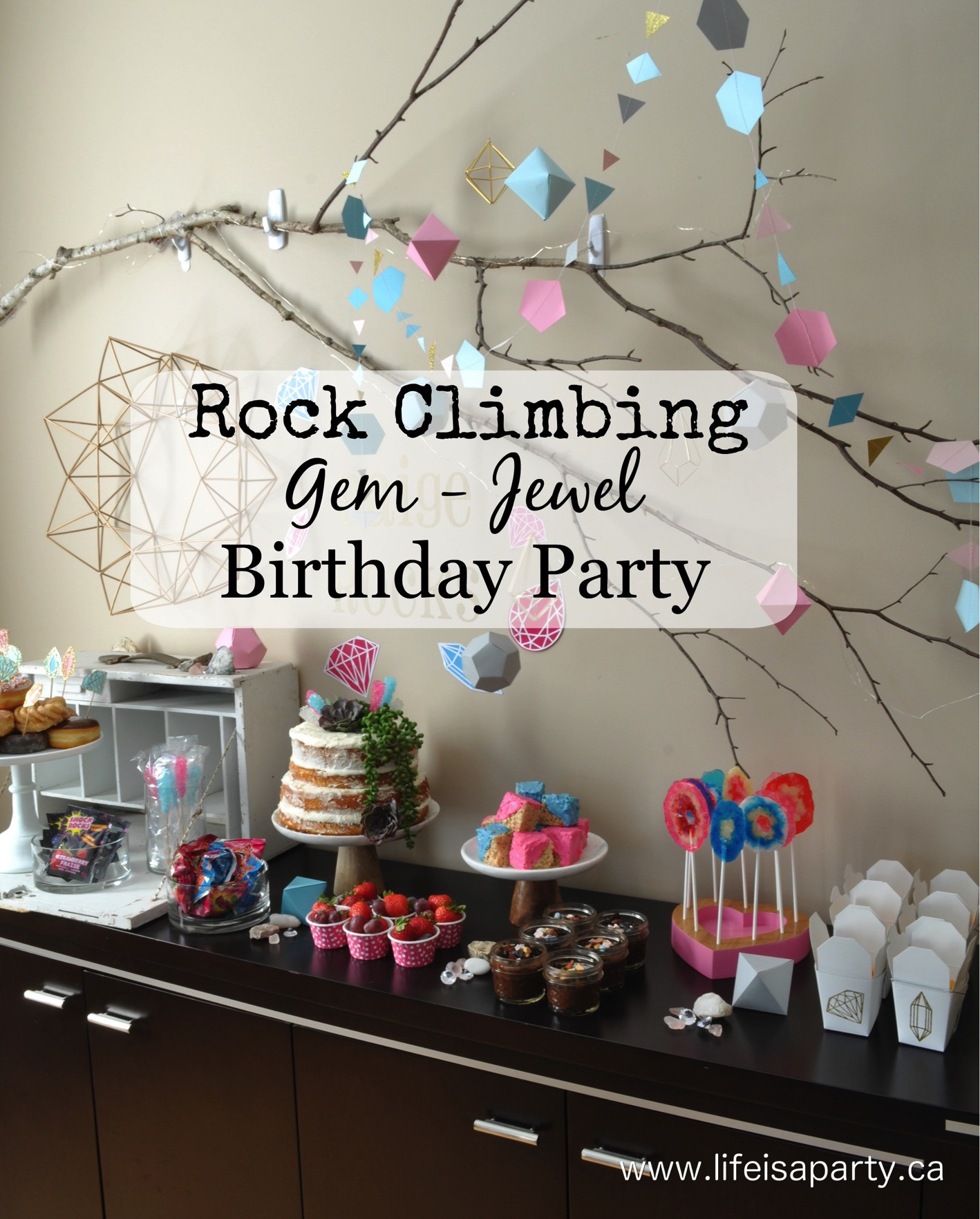 Best ideas about Rock Climbing Birthday Party . Save or Pin Rock Climbing Gem Birthday Party Now.