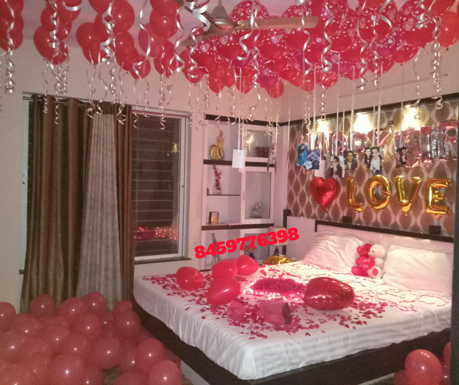 Best ideas about Romantic Birthday Ideas . Save or Pin Romantic Room Decoration For Surprise Birthday Party in Now.