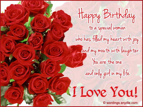 Best ideas about Romantic Birthday Wishes For Girlfriend . Save or Pin Happy Birthday Wishes for Girlfriend Wordings and Messages Now.