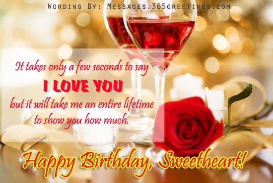 Best ideas about Romantic Birthday Wishes . Save or Pin Romantic Birthday Wishes 365greetings Now.