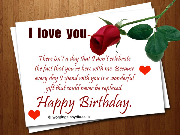 Best ideas about Romantic Birthday Wishes . Save or Pin Romantic Birthday Wishes And Messages Wordings and Messages Now.
