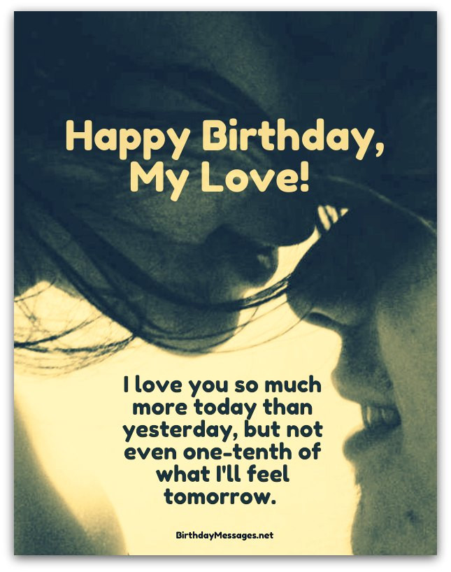 Best ideas about Romantic Birthday Wishes . Save or Pin Romantic Birthday Wishes Birthday Messages for Lovers Now.