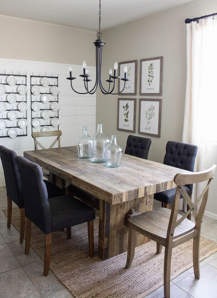 Best ideas about Room And Board Dining Table . Save or Pin Modern Farmhouse Dining Room & DIY Shiplap Now.
