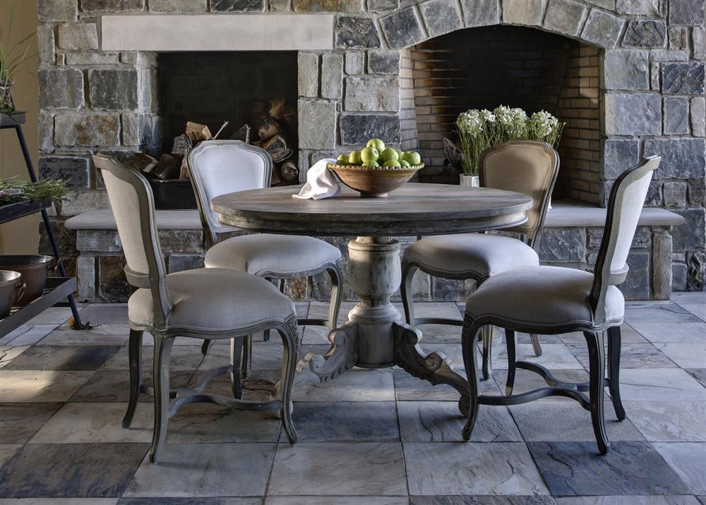 Best ideas about Room And Board Dining Table . Save or Pin Gerome Swedish Gustavian White Wash Antique Gray Dining Now.