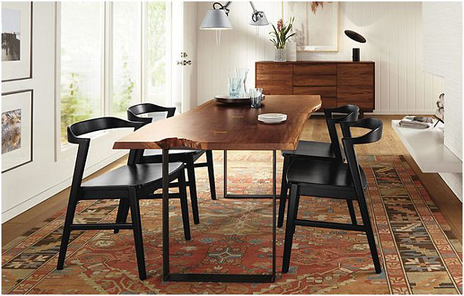 Best ideas about Room And Board Dining Table . Save or Pin girl boy & a house Slab Dining Table Chilton Room and Now.
