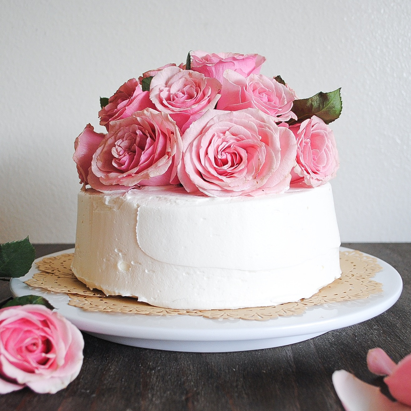 Best ideas about Rose Birthday Cake . Save or Pin Tayberry Chocolate Cake with Fresh Cut Roses Now.