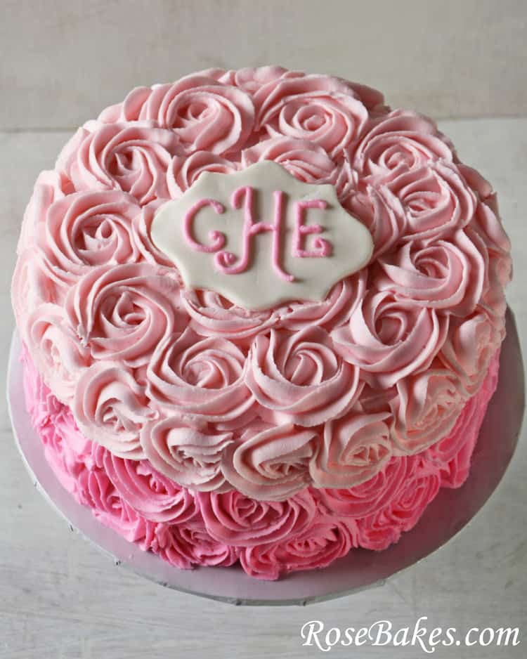 Best ideas about Rose Birthday Cake . Save or Pin Pink Ombre Roses Birthday Cake Now.