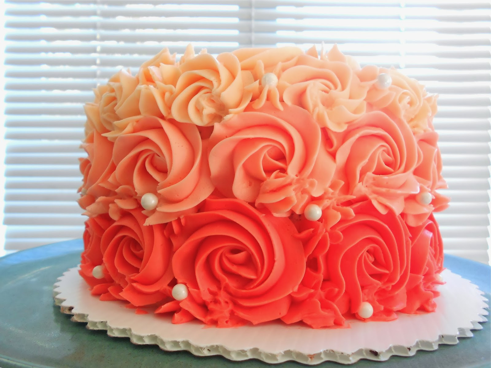 Best ideas about Rose Birthday Cake . Save or Pin Custom Cakes by Lori 60th Ruffled Rose birthday cake Now.