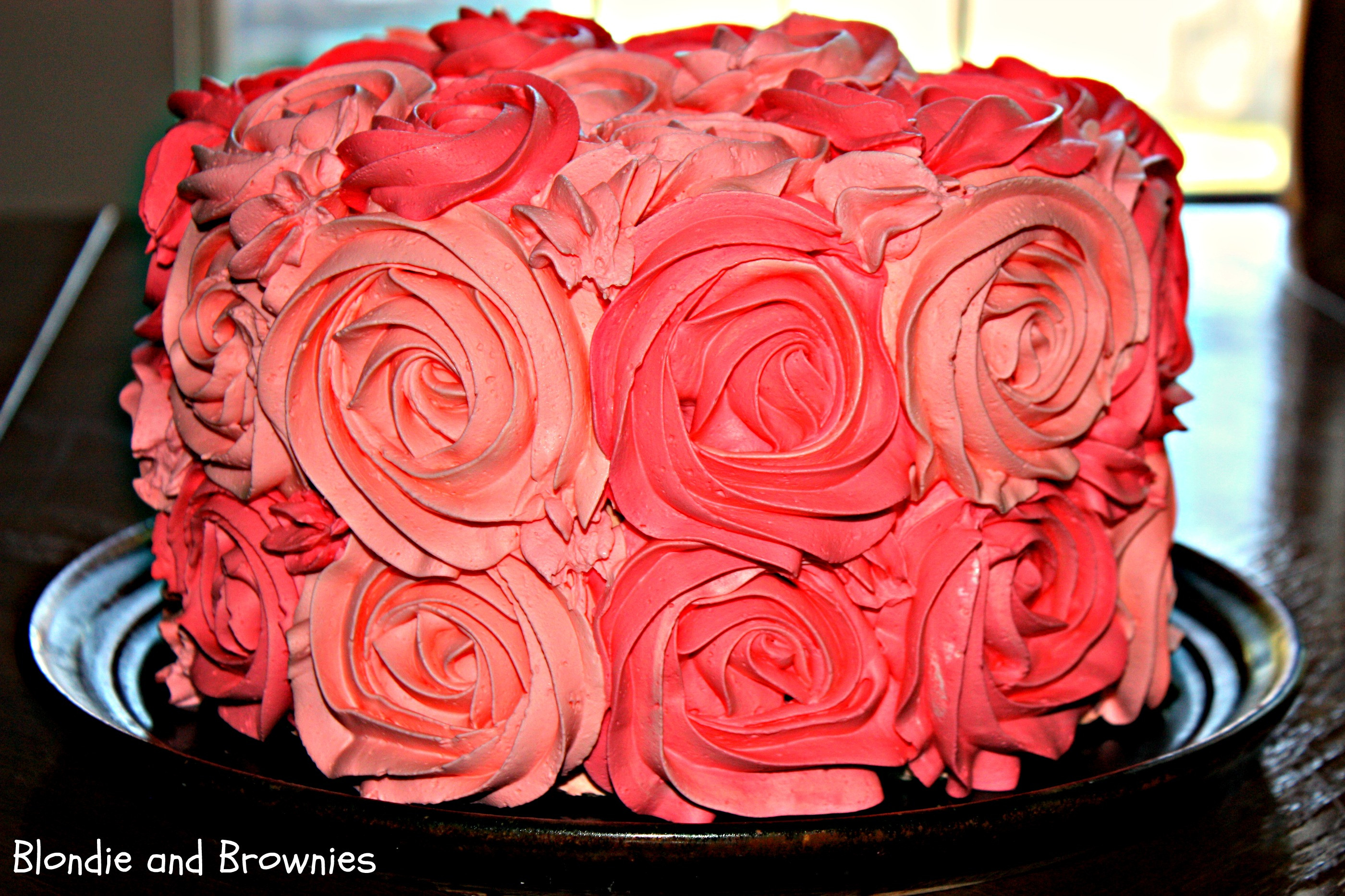 Best ideas about Rose Birthday Cake . Save or Pin Rose Cake – Blon and Brownies Now.