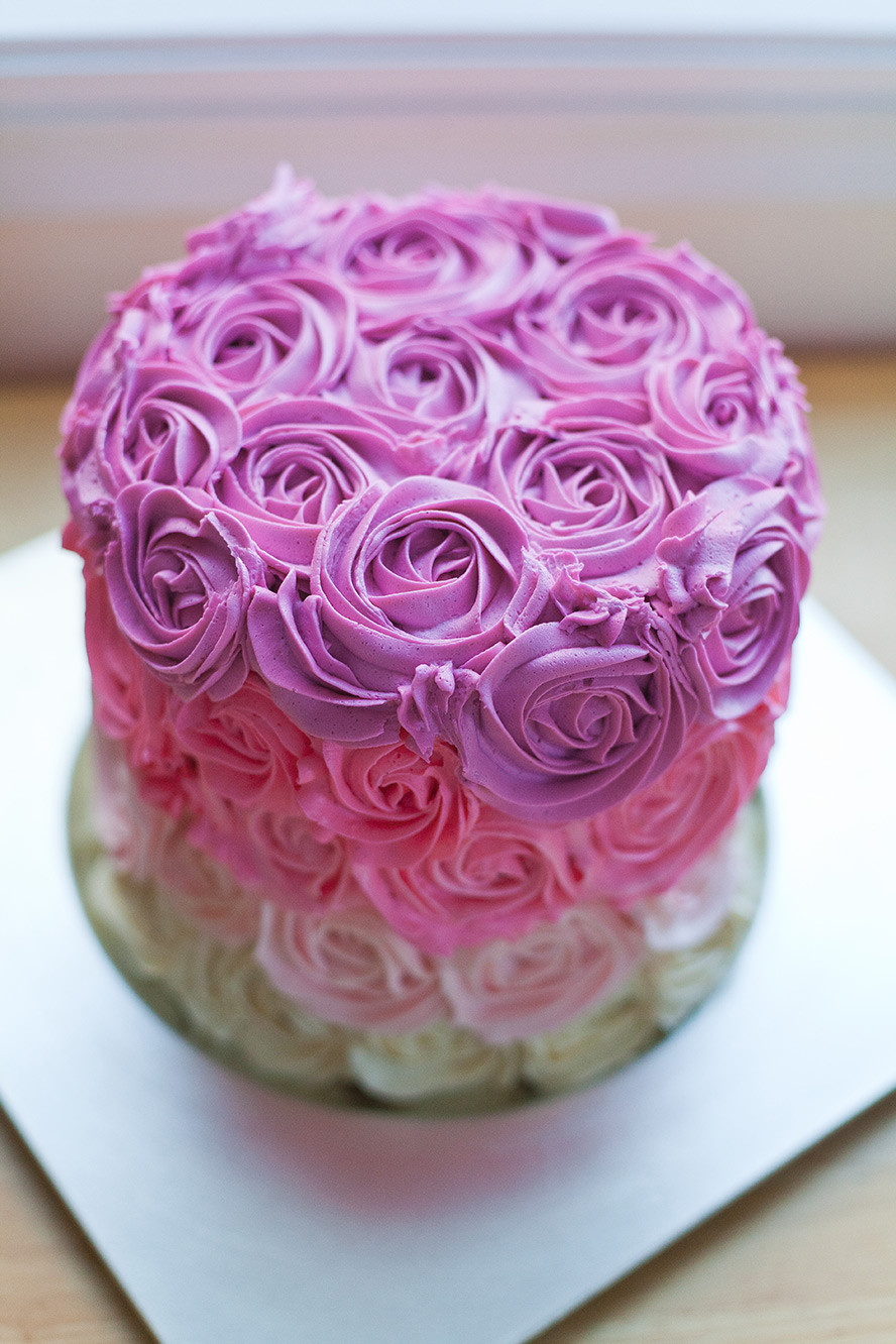Best ideas about Rose Birthday Cake . Save or Pin How to Make a Pink Ombre Rose Cake Now.