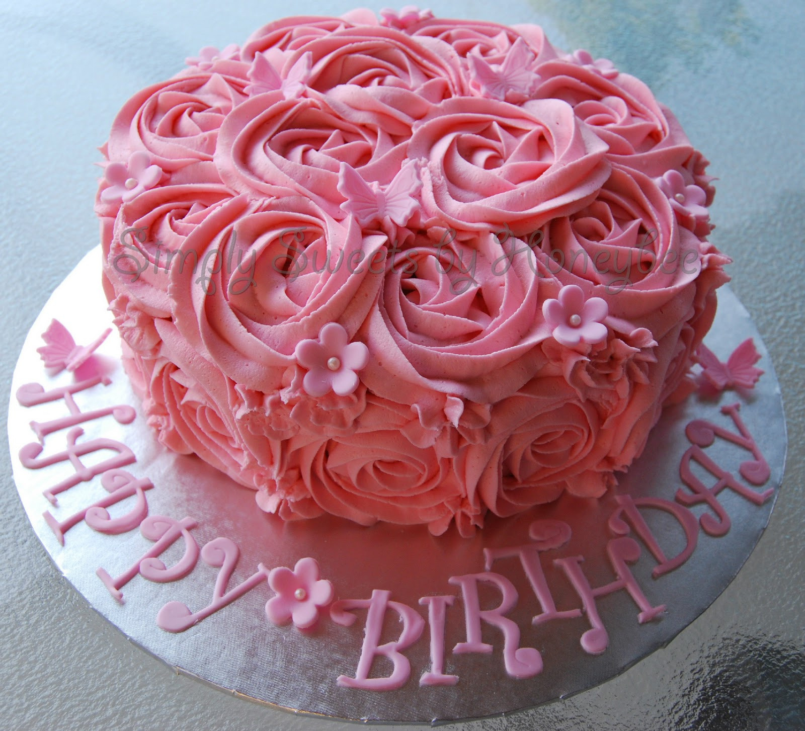 Best ideas about Rose Birthday Cake . Save or Pin Two Birthday Cakes simplysweetsbyhoneybee Now.