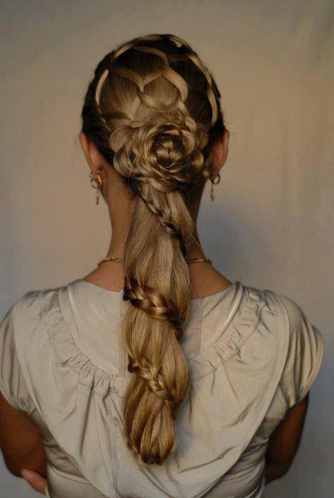 Best ideas about Roses Hairstyles . Save or Pin rose shape braid wedding hair prom hair Now.