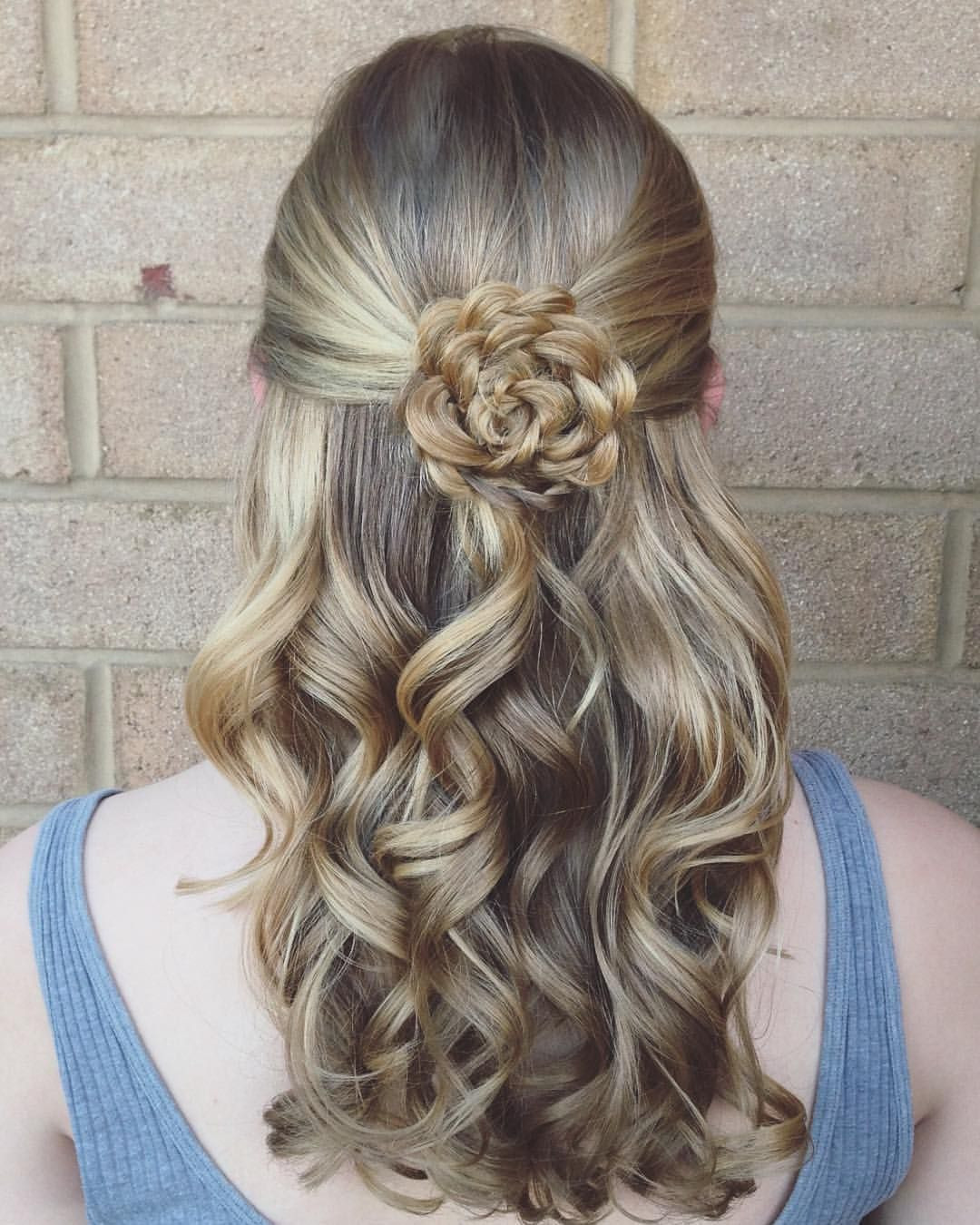 """Best ideas about Roses Hairstyles . Save or Pin Abigail Rose on Instagram """"Those curls a flower braid Now."""