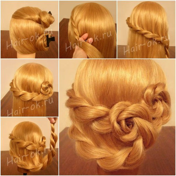 Best ideas about Roses Hairstyles . Save or Pin Braided Rose Hairstyle Double rose hairstyle Now.