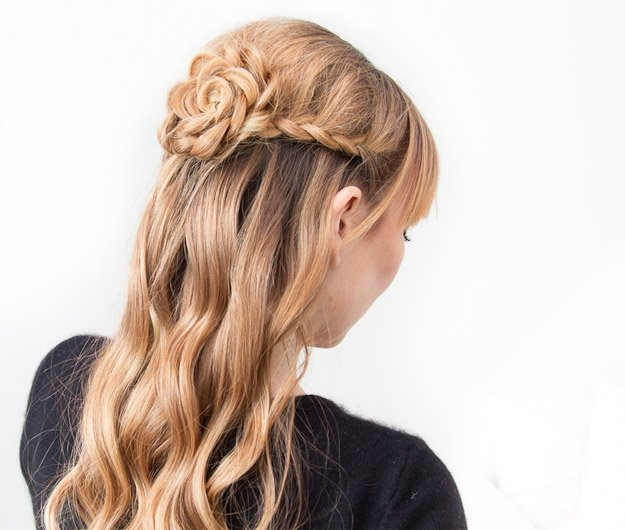 Best ideas about Roses Hairstyles . Save or Pin 10 DIY Hairstyles For Long Hair Now.