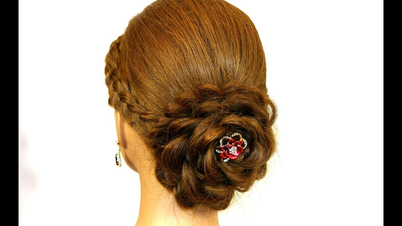 Best ideas about Roses Hairstyles . Save or Pin Prom hairstyle for long hair Updo Hair made rose Now.