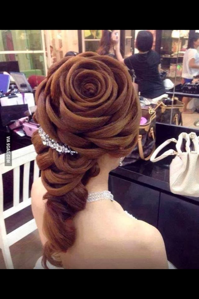 Best ideas about Roses Hairstyles . Save or Pin Rose braid Just waaaauuuw Hair Pinterest Now.