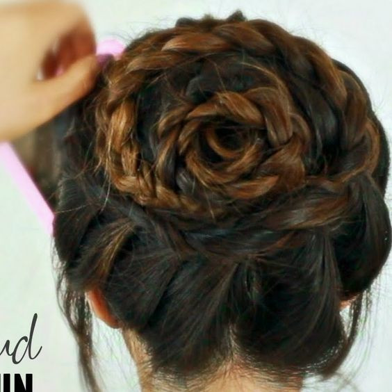 Best ideas about Roses Hairstyles . Save or Pin Rose Bud Braid Bun Tutorial by Tina L Watch the video Now.