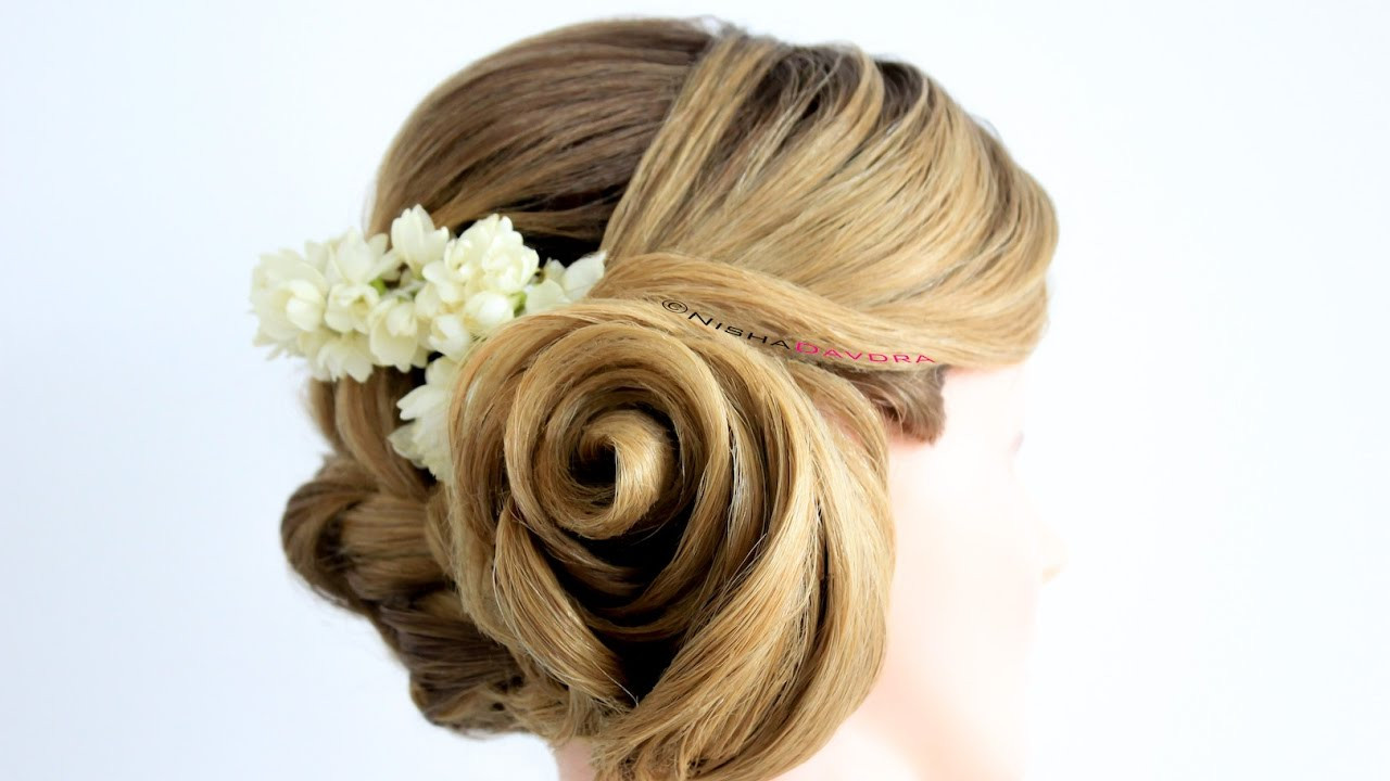 Best ideas about Roses Hairstyles . Save or Pin Rose Flower Hairstyle STEP BY STEP Tutorial with Braid Now.