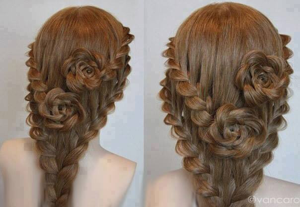 Best ideas about Roses Hairstyles . Save or Pin Rose Bud Flower Braid Hairstyle Tutorial AllDayChic Now.