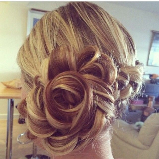 """Best ideas about Roses Hairstyles . Save or Pin """"Chignon Bloom"""" Now."""