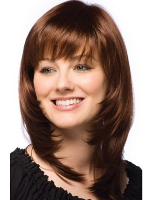 Best ideas about Round Face Medium Length Hairstyles . Save or Pin 2014 Trendy Medium Length Hairstyles for Round Faces Now.