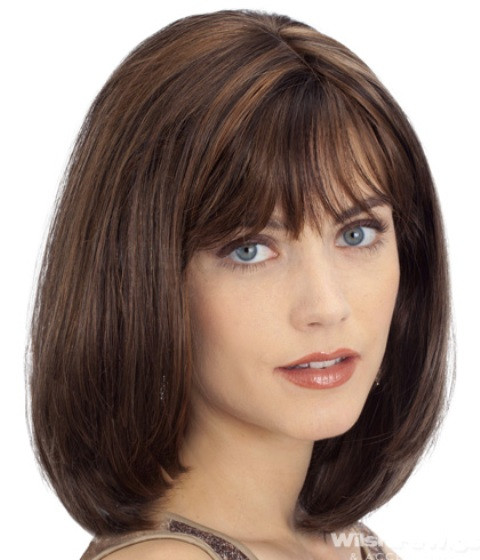 Best ideas about Round Face Medium Length Hairstyles . Save or Pin 14 Finest Medium Length Hairstyles for Round Faces Now.