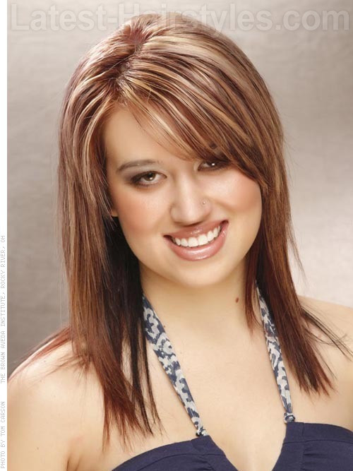 Best ideas about Round Face Medium Length Hairstyles . Save or Pin 17 Flattering Medium Hairstyles For Round Faces Now.