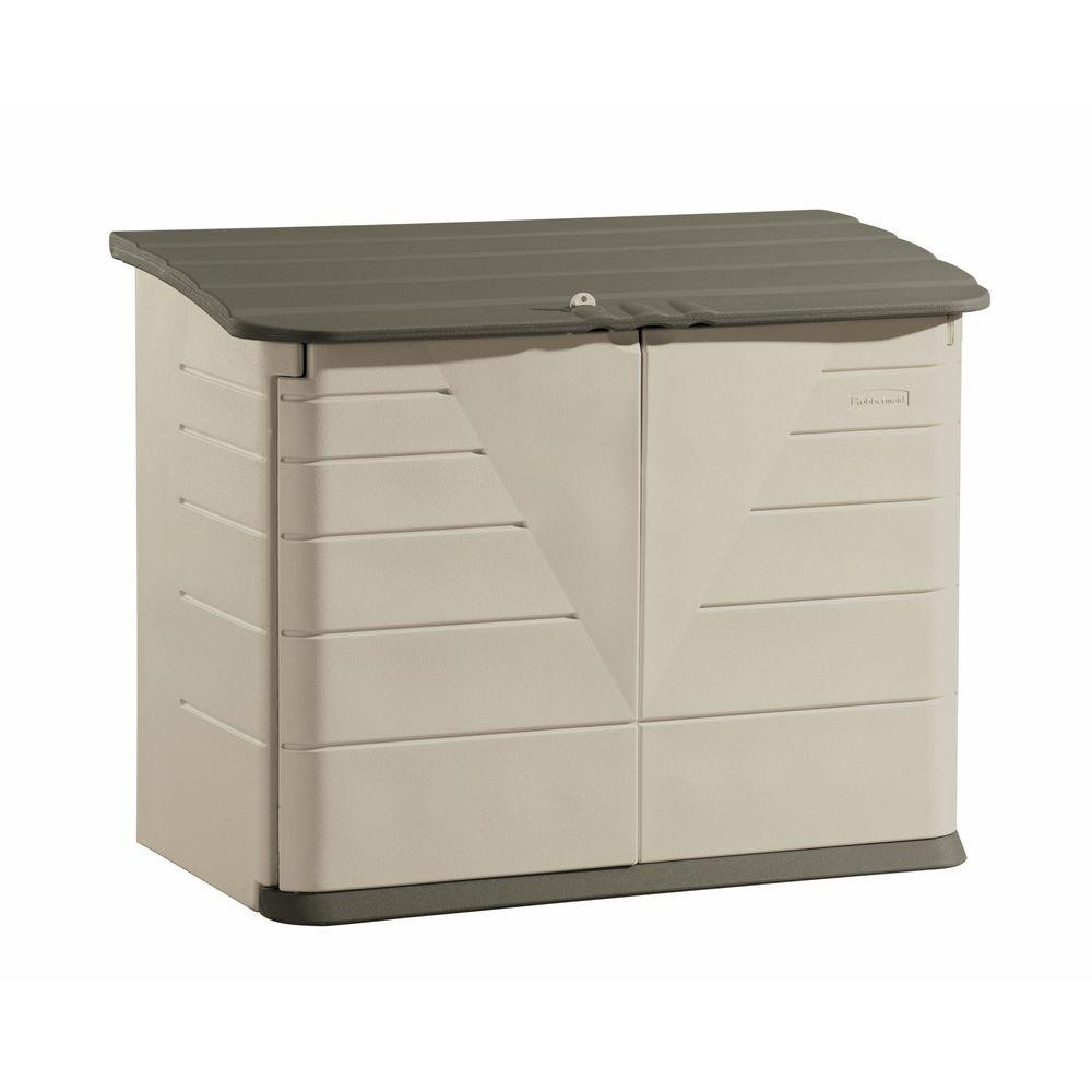 Best ideas about Rubbermaid Vertical Storage Shed . Save or Pin Rubbermaid 2 ft 7 in x 5 ft Horizontal Resin Storage Now.