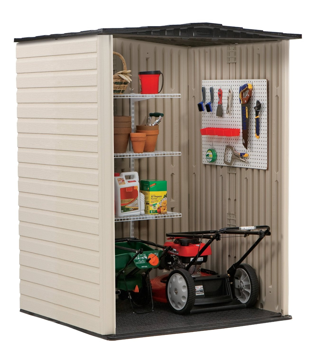 Best ideas about Rubbermaid Vertical Storage Shed . Save or Pin Rubbermaid Medium Vertical 106 Cu Ft Outdoor Storage Now.