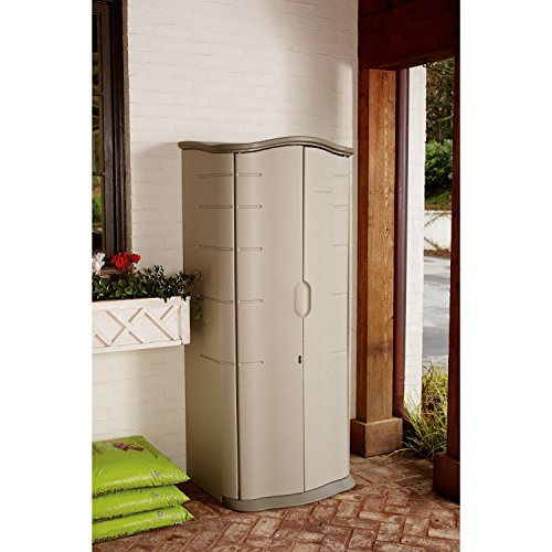Best ideas about Rubbermaid Vertical Storage Shed . Save or Pin Storage Shed Rubbermaid Plastic Vertical Outdoor Keeper Now.