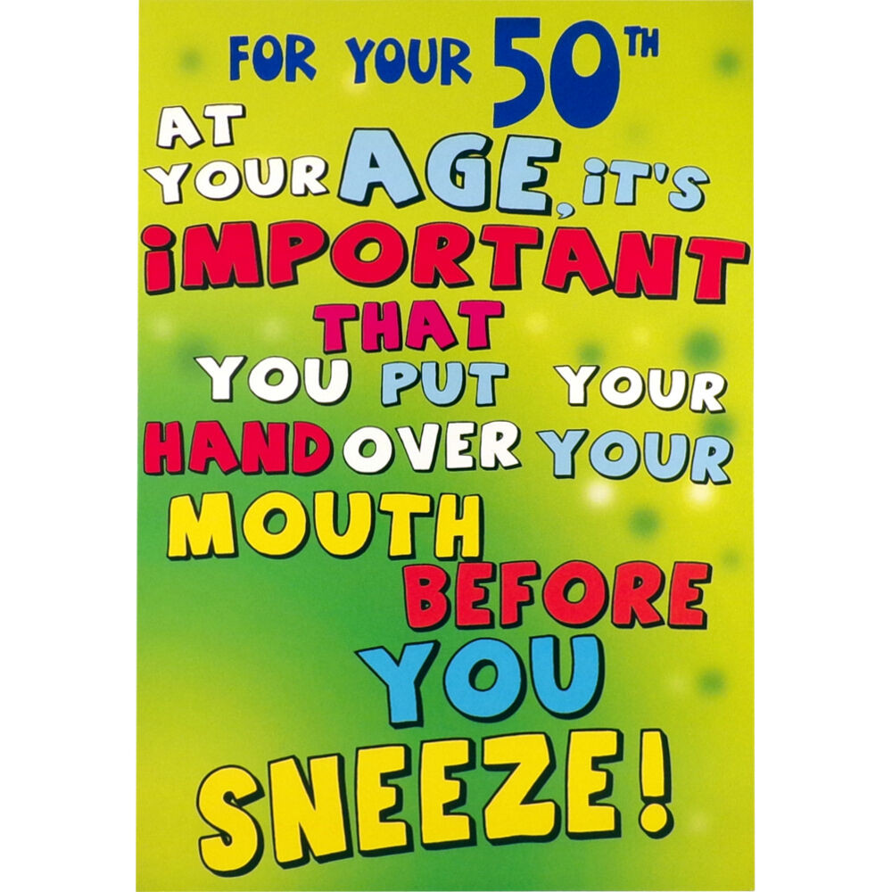 Best ideas about Rude Birthday Wishes . Save or Pin 50th BIRTHDAY CARD Funny HUMOROUS RUDE Greetings Card Now.