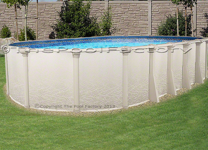 """Best ideas about Saltwater Above Ground Pool . Save or Pin 18x33x52"""" Saltwater 5000 Ground Swimming Pool DELUXE Now."""