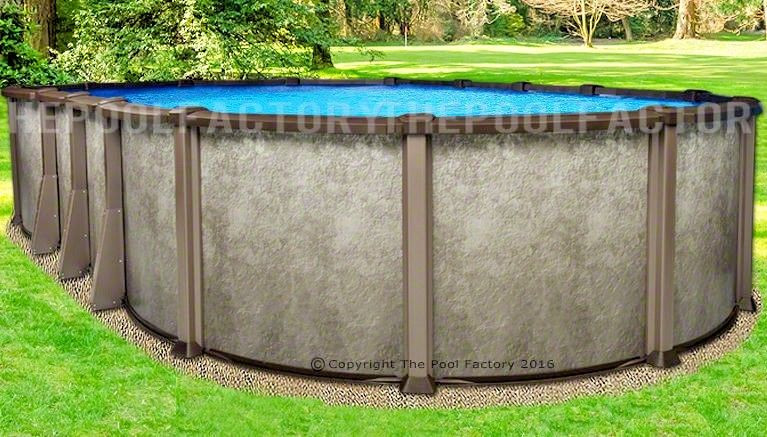 """Best ideas about Saltwater Above Ground Pool . Save or Pin 18x33 Oval 54"""" Saltwater LX Ground Salt Swimming Now."""