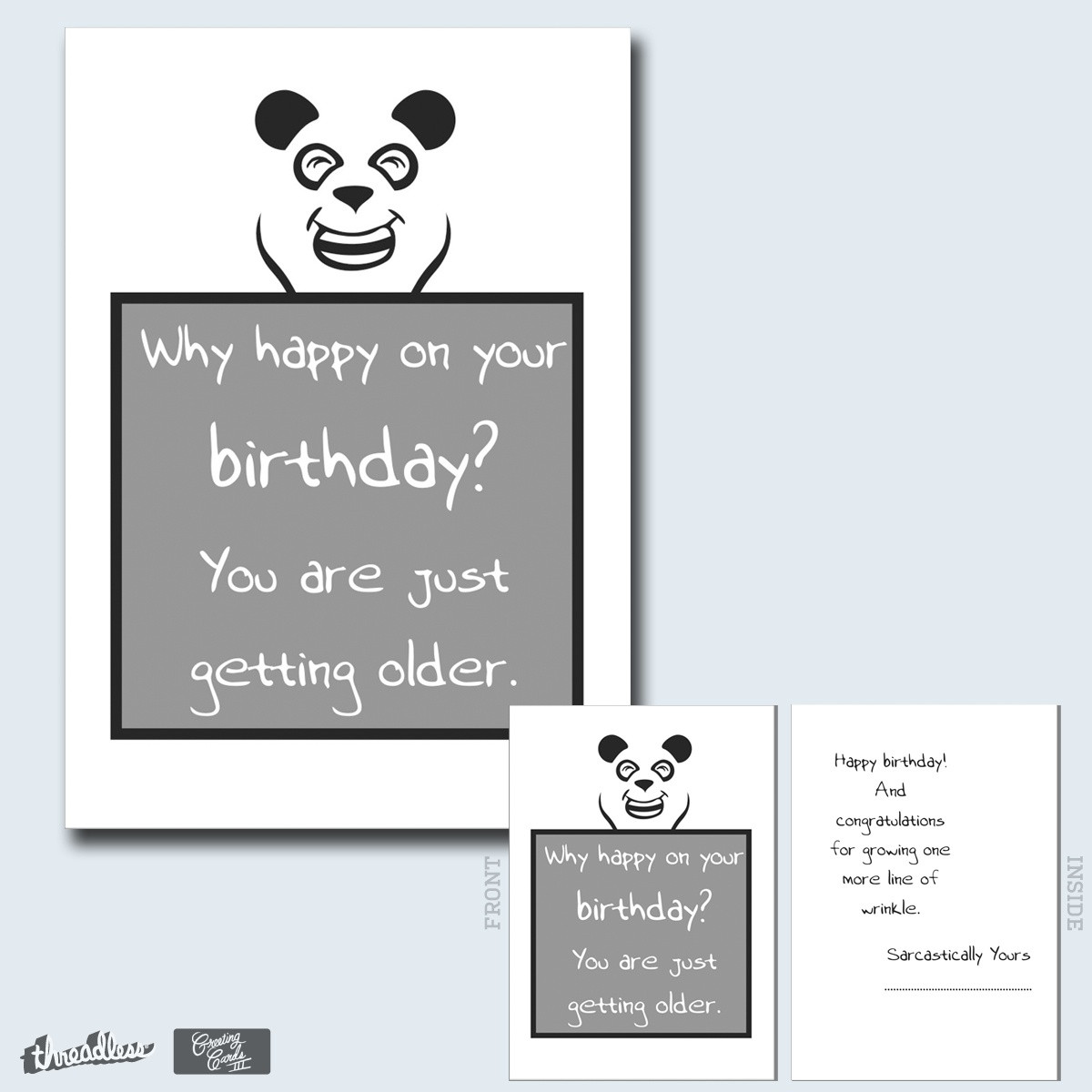 Best ideas about Sarcastic Birthday Wishes . Save or Pin Score Sarcastic Birthday Wish by Namgyal on Threadless Now.
