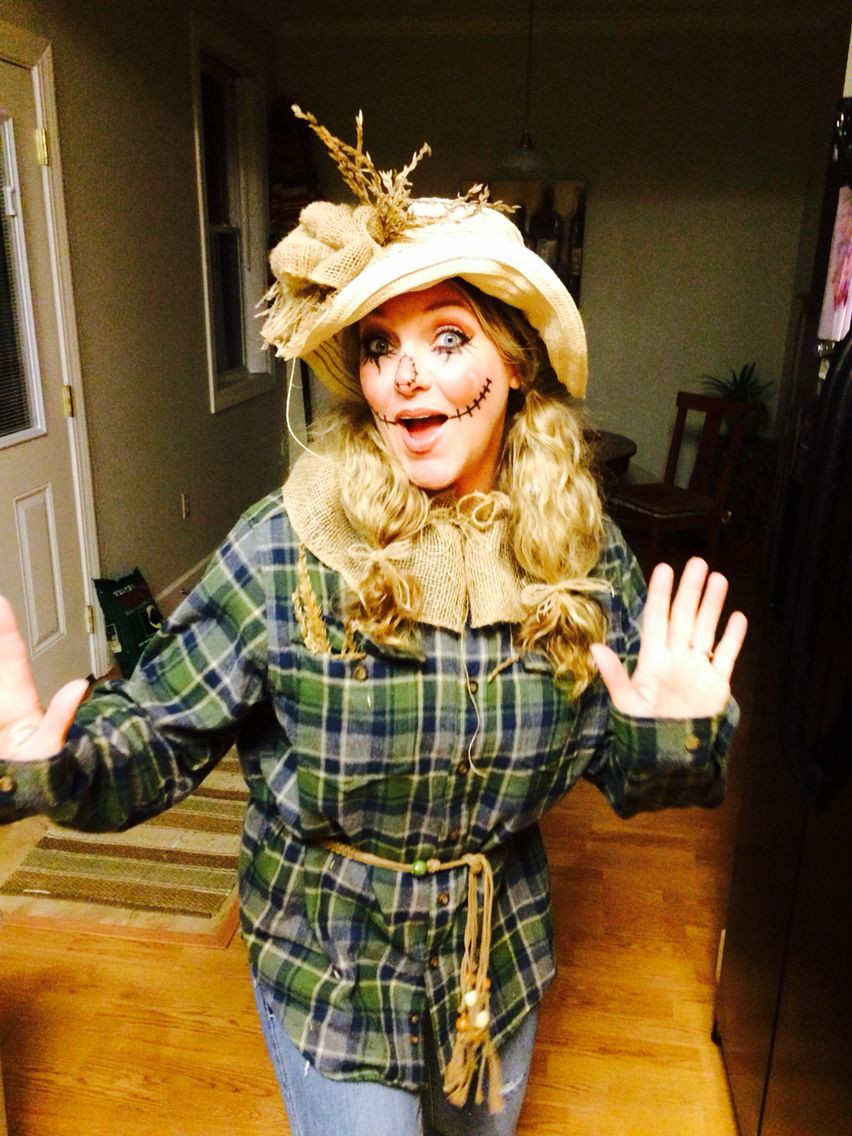 Best ideas about Scarecrow Halloween Costume DIY . Save or Pin Halloween adult women s scarecrow costume Now.