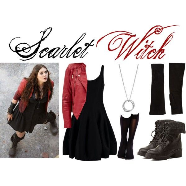 Best ideas about Scarlet Witch Costume DIY . Save or Pin Scarlet Witch by sallyrose2 on Polyvore featuring Halston Now.