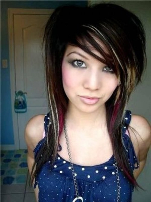 Best ideas about Scene Girls Hairstyles . Save or Pin 35 Deeply Emotional and Creative Emo Hairstyles For Girls Now.