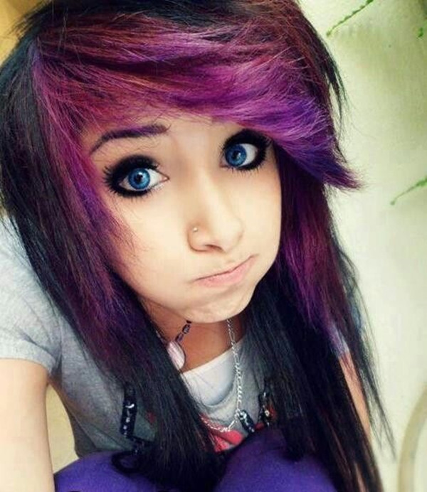 Best ideas about Scene Girls Hairstyles . Save or Pin 40 Cute Emo Hairstyles for Teens Boys and Girls Buzz 2018 Now.
