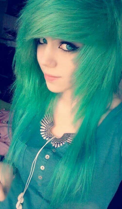 Best ideas about Scene Hairstyle Girls . Save or Pin Green Scene Hairstyle for Girls Now.