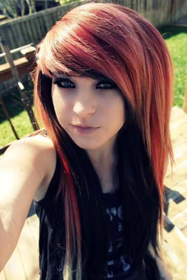 Best ideas about Scene Hairstyle Girls . Save or Pin 40 Cute Emo Hairstyles for Teens Boys and Girls Buzz 2018 Now.