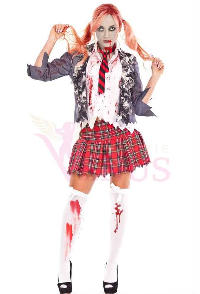 Best ideas about School Girl Halloween Costumes DIY . Save or Pin 25 best ideas about Zombie school girl on Pinterest Now.