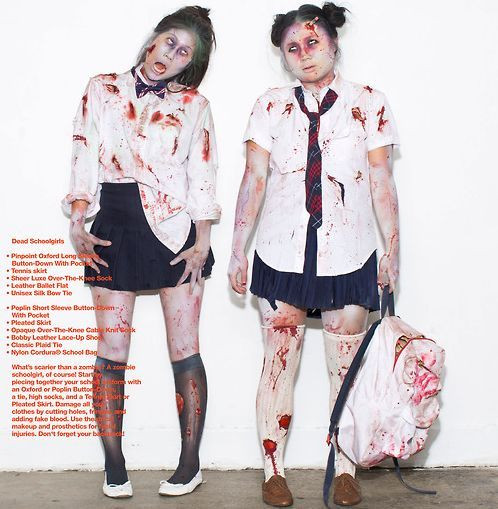 Best ideas about School Girl Halloween Costumes DIY . Save or Pin school girl zombie costume Google Search Now.