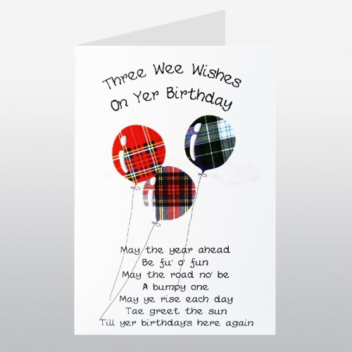 Best ideas about Scottish Birthday Wishes . Save or Pin Happy Birthday Balloons Scottish Birthday Card Now.