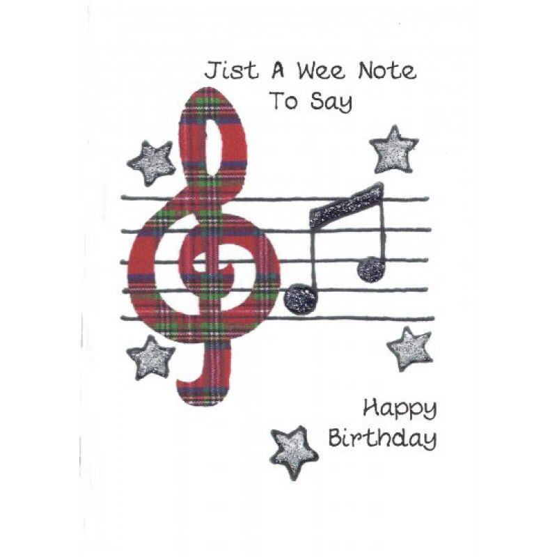 Best ideas about Scottish Birthday Wishes . Save or Pin Birthday tartan note Now.