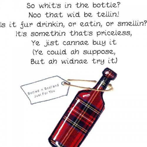 Best ideas about Scottish Birthday Wishes . Save or Pin Scottish Birthday Card Bottle WWBI36 Now.